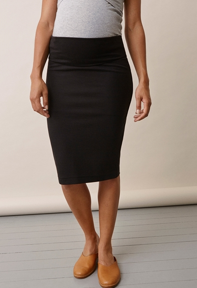 Once-on-never-off pencil skirt - Black - XL (3) - Maternity skirts