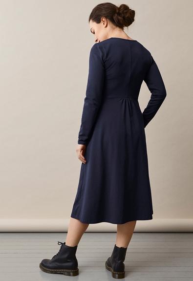 Charlotte dress - Midnight blue - M (2) - Maternity dress / Nursing dress