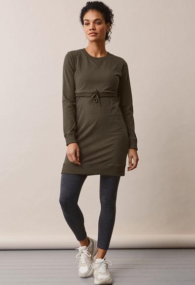 B Warmer Kleid - Pine Green - L (2) - Umstandskleid / Stillkleid