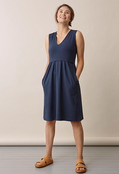 Tilda dressthunder blue (2) - Umstandskleid / Stillkleid