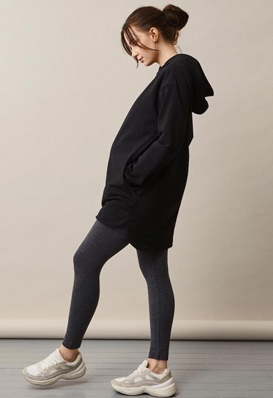 BFF hoodie - Black - M (2) - Maternity top / Nursing top