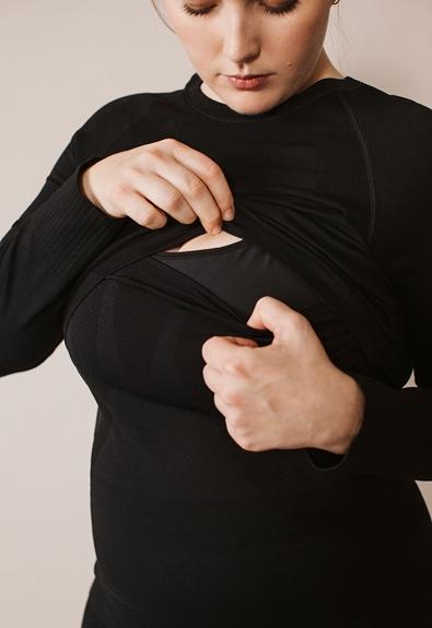 Long-sleeved sports top - Black - L/XL (6) - Maternity Active wear / Nursing Activewear