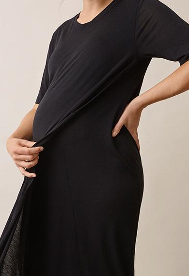 The-shirt dressblack (4) - Gravidklänning / Amningsklänning