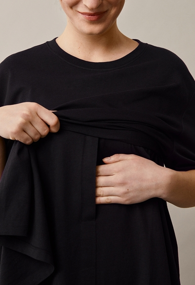Oversized The-shirt - Black - M/L (3) - Maternity top / Nursing top