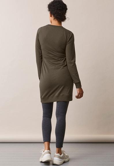 B Warmer Kleid - Pine Green - L (3) - Umstandskleid / Stillkleid