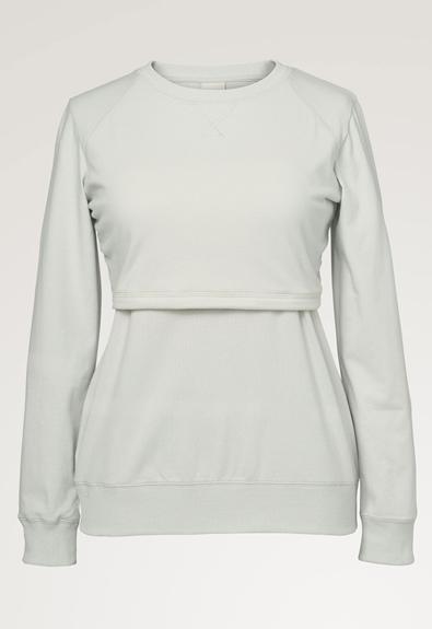 B Warmer sweatshirt - Frozen grey - S (5) - Umstandsshirt / Stillshirt