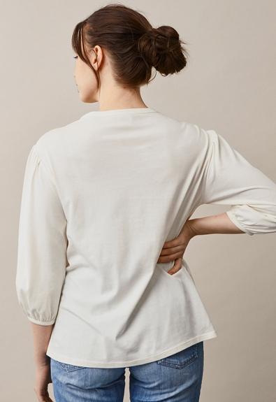 The-shirt blouse - Tofu - M (4) - Maternity top / Nursing top