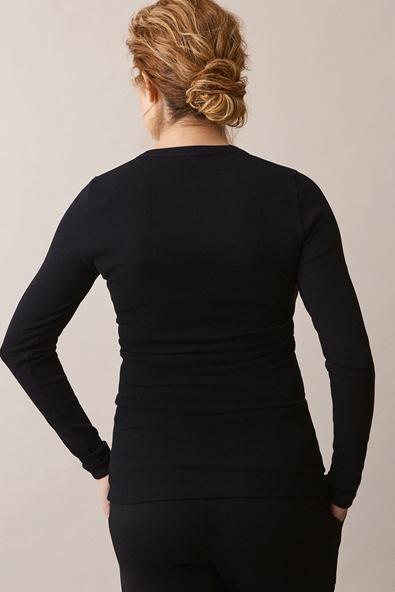 Signe long-sleeved top - Black - S (4) - Maternity top / Nursing top