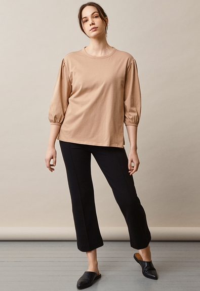 The-shirt blouse - Sand - XL (5) - Maternity top / Nursing top