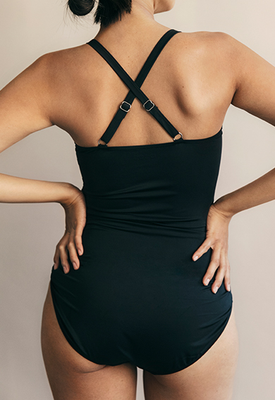 Fast Food swimsuitblack (5) - Materinty swimwear / Nursing swimwear