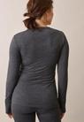 Langärmeliges Shirt aus Merinowolle - Dk grey melange - M - small (3)