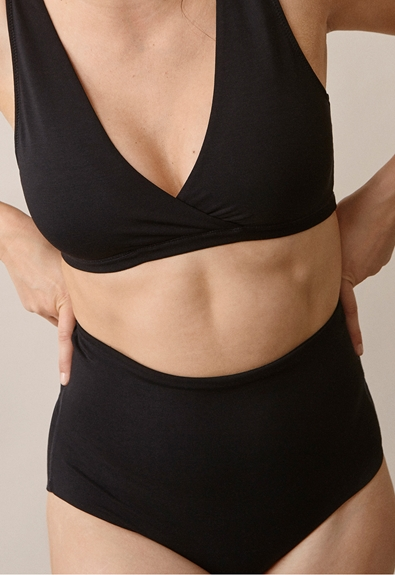 Soft support brief - Black - M (1) - Maternity underwear / Nursing underwear