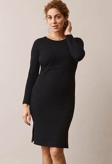 Ines dress - Black - XL (1) - Maternity dress / Nursing dress