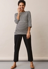 Jean top with 3/4 sleeve - Block black/tofu - XL - small (5)