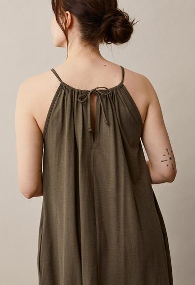 Air halterneck midiklänning - Pine Green - One size (3) - Gravidklänning / Amningsklänning