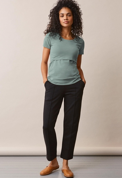 Classic short-sleeved top - Mint - L (4) - Maternity top / Nursing top