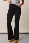 Once-on-never-off flared pants - Black - L - small (3)