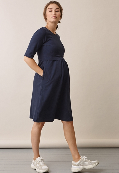 Linnea Kleid - Midnight blue - S (2) - Umstandskleid / Stillkleid