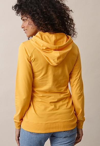 B Warmer hoodiesunflower (2) - Maternity top / Nursing top