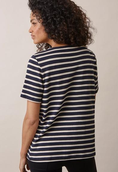 Breton short-sleeve top - Midnight blue/tofu - M (2) - Umstandsshirt / Stillshirt