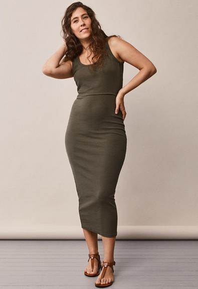 Signe sleeveless dress - Pine green - S (4) - Maternity dress / Nursing dress
