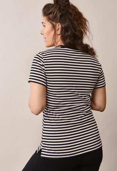 Franka t-shirt - Block black/tofu - XL (4) - Maternity top / Nursing top