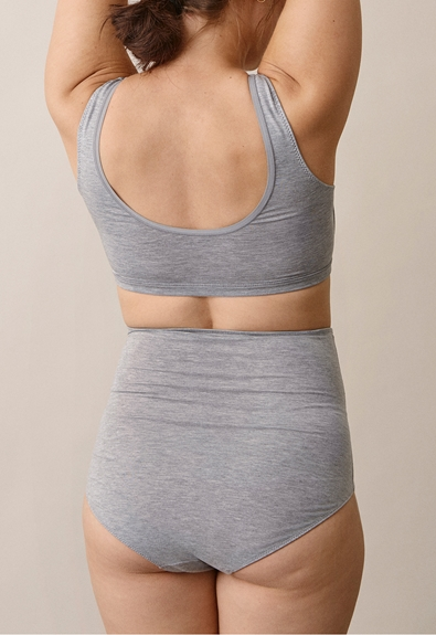 Soft support brief - Grey melange - XL (3) - Maternity underwear / Nursing underwear