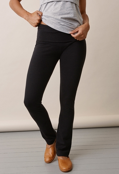 Once-on-never-off straight leg pants - Black - S (4) - Maternity pants