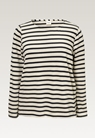 Breton long-sleeved top - Tofu/Midnight blue - L - small (6)