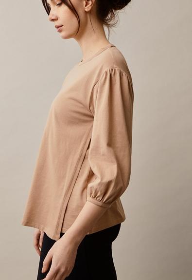 The-shirt blouse - Sand - XL (3) - Maternity top / Nursing top