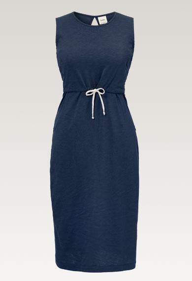 Naima dressthunder blue (7) - Gravidklänning / Amningsklänning