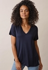 The-shirt v-neckmidnight blue - small (1)