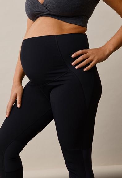 Once-on-never-off fleeceleggings - Black - S (6) - Maternity pants