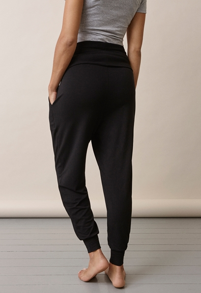 Once-on-never-off easy pants - Black - L (5) - Maternity pants