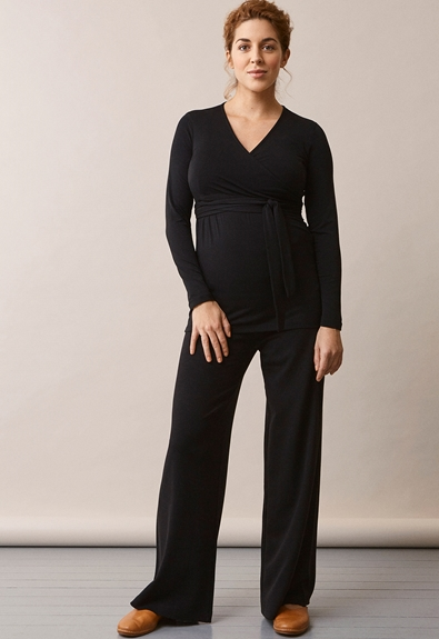 Giselle wrap top - Black - M (2) - Outlet 50