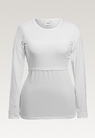 Classic long-sleeved top - White - L - small (5)