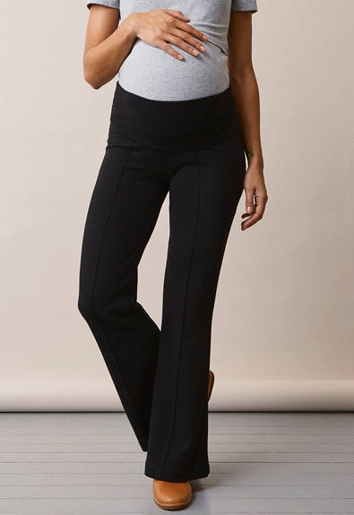 Once-on-never-off flared pants - Black - L (1) - Maternity pants