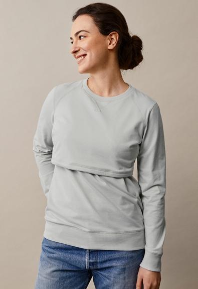 B Warmer sweatshirt - Frozen grey - S (1) - Umstandsshirt / Stillshirt