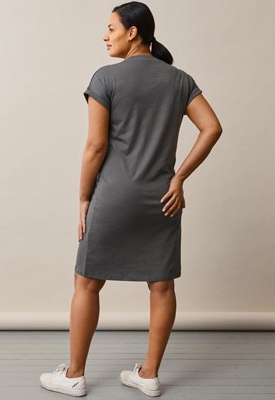 The-shirt dress - Willow green - L (3) - Maternity dress / Nursing dress