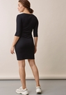 Signe dress with 3/4 sleeves - Black - S - small (4)