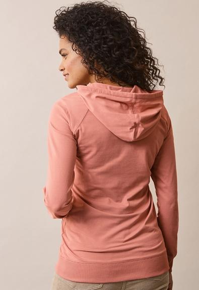 B Warmer hoodie - Canyon clay - L (3) - Maternity top / Nursing top