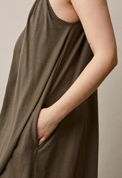 Air halterneck midiklänning - Pine Green - One size (4) - Gravidklänning / Amningsklänning
