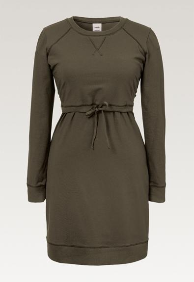 B Warmer Kleid - Pine Green - L (6) - Umstandskleid / Stillkleid