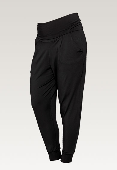 Once-on-never-off easy pants - Black - L (7) - Maternity pants