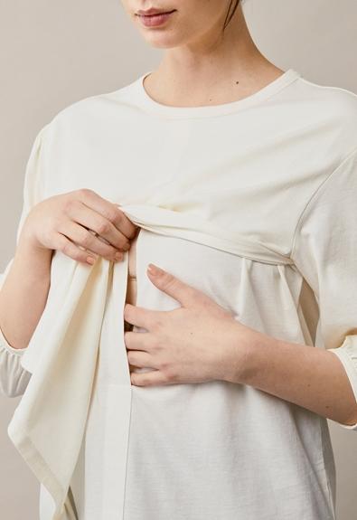 The-shirt blouse - Tofu - M (5) - Maternity top / Nursing top