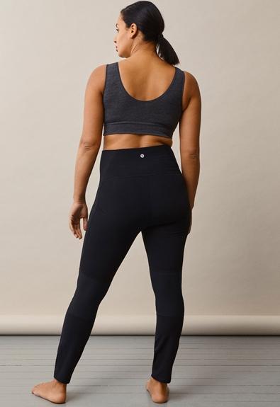 Once-on-never-off fleeceleggings - Black - S (5) - Maternity pants