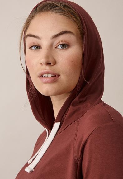 B Warmer hoodie - Cayenne - XL (5) - Maternity top / Nursing top