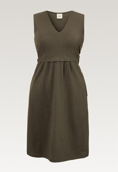 Tilda Kleid - Pine green - M (5) - Umstandskleid / Stillkleid