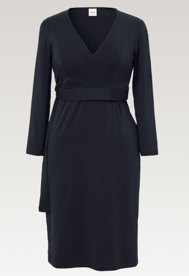 Giselle wrap dress - Midnight blue - M (5) - Maternity dress / Nursing dress