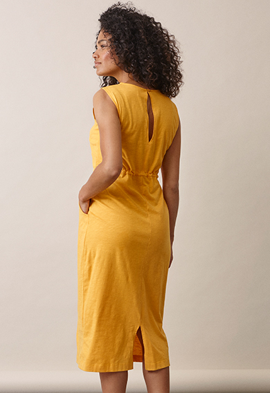 Naima dresssunflower (2) - Maternity dress / Nursing dress